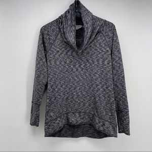 Athleta Space Dye Tranquility Cowl Neck Pullover S